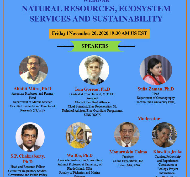 Webinar: Natural Resources, Ecosystem Services and Sustainability